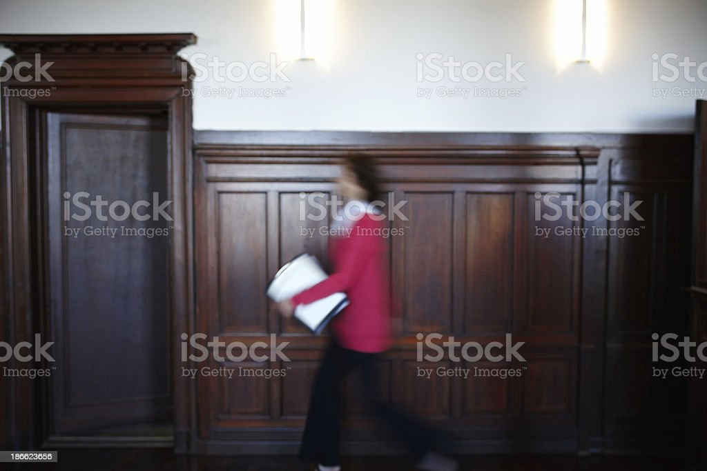 In a hurry with important documents royalty-free stock photo