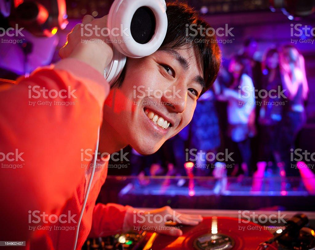 DJ in a nightclub stock photo