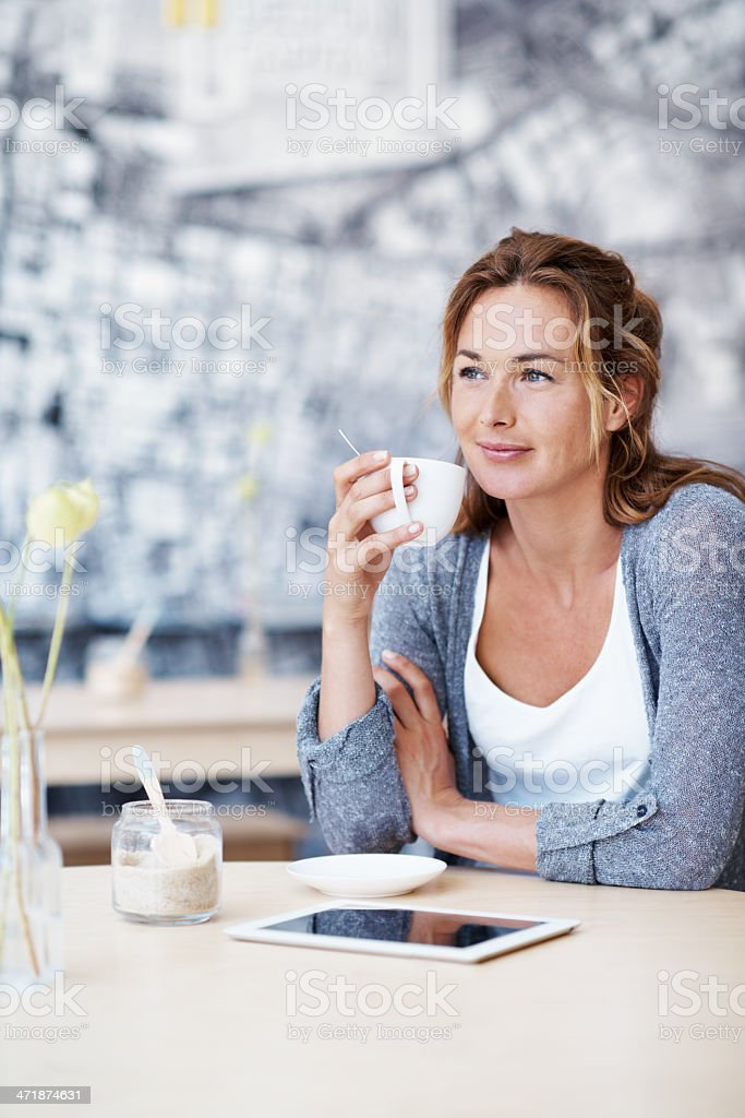 In a peaceful space royalty-free stock photo