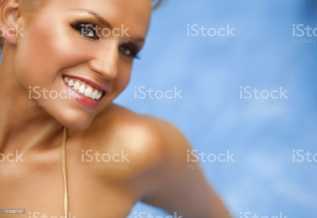 In A Pool royalty-free stock photo