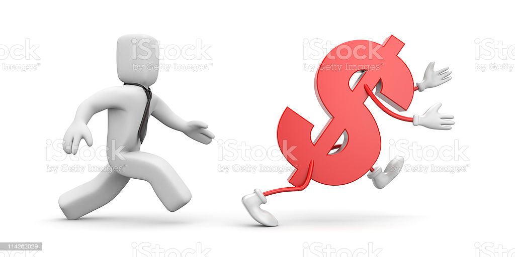 In a pursuit of profit stock photo