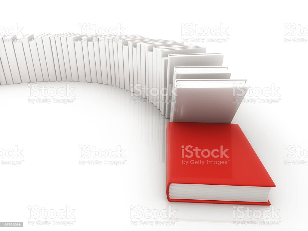 in a row book royalty-free stock photo