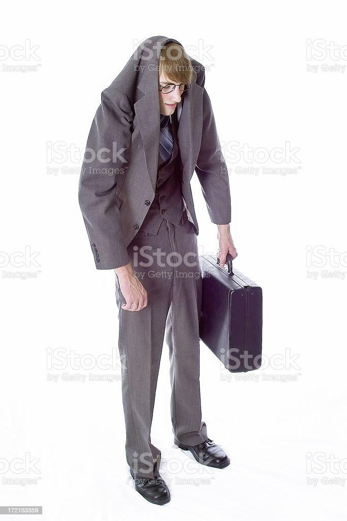 In a Slump royalty-free stock photo