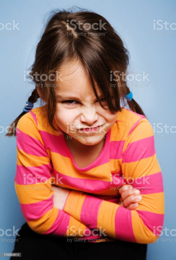In a Sulk royalty-free stock photo