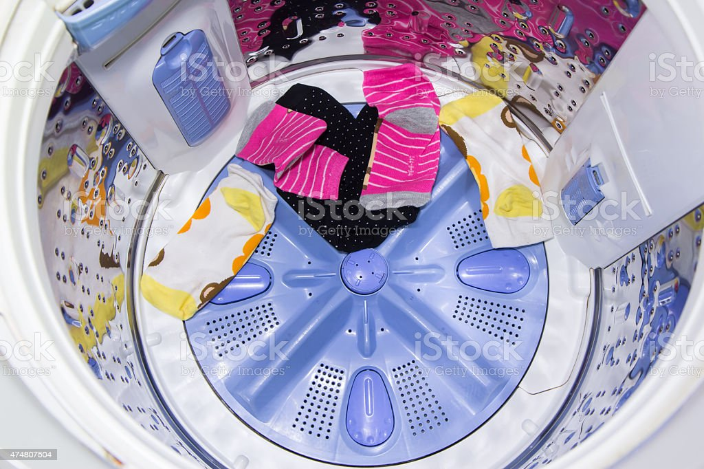 In a washing machine royalty-free stock photo