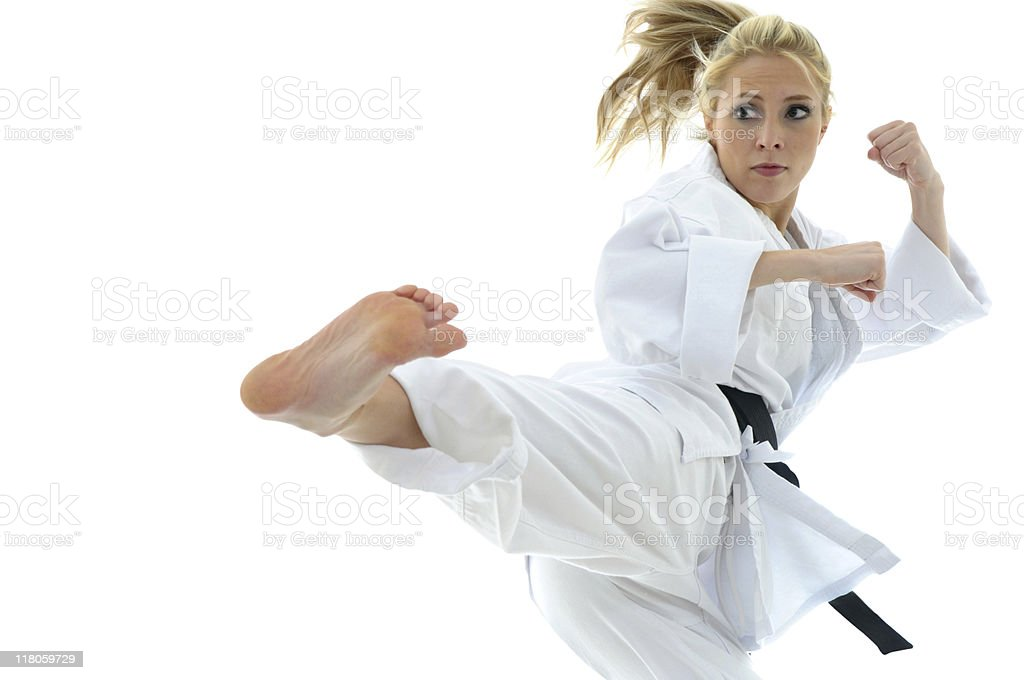 In air karate royalty-free stock photo