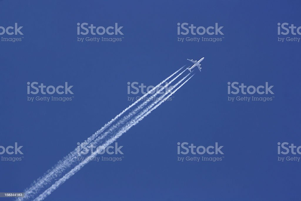 747 in air royalty-free stock photo