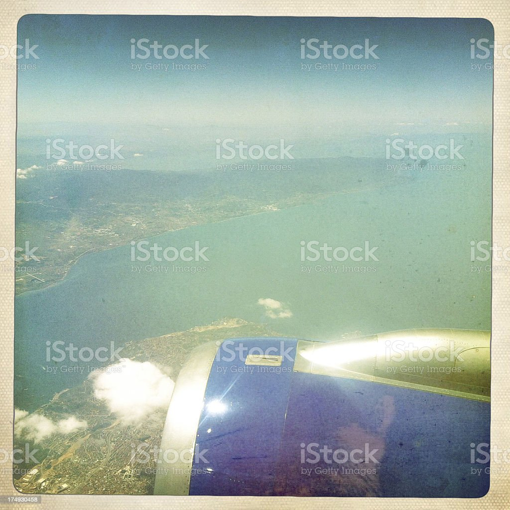 In airplane royalty-free stock photo