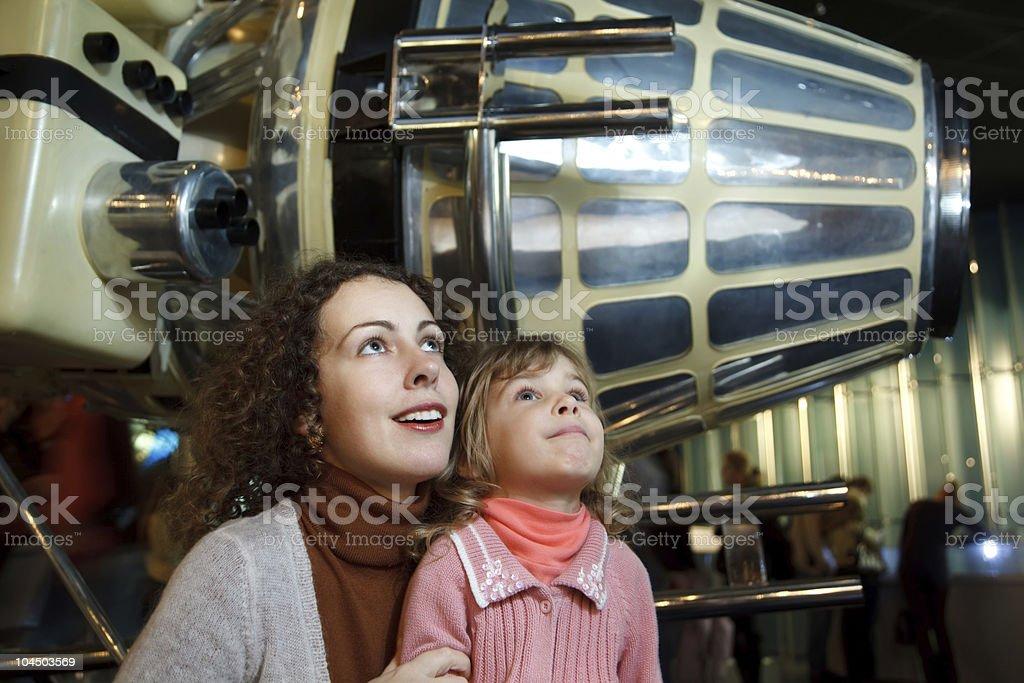 In an astronautics museum stock photo
