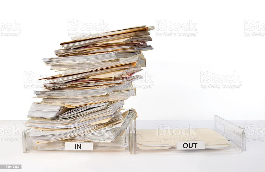In and Out Boxes royalty-free stock photo