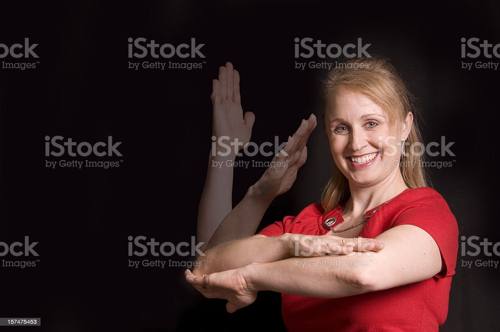 ALL DAY in ASL royalty-free stock photo