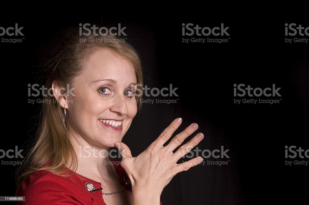 MOTHER in ASL royalty-free stock photo