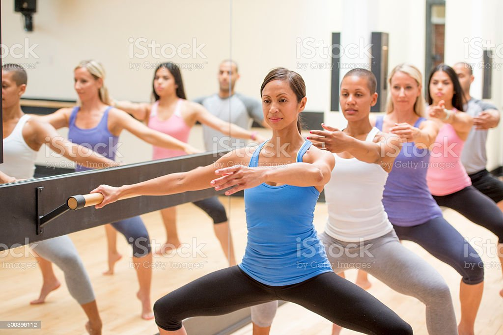 In Barre Class stock photo