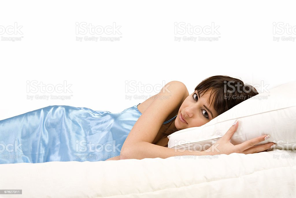 In bed looking at you royalty-free stock photo