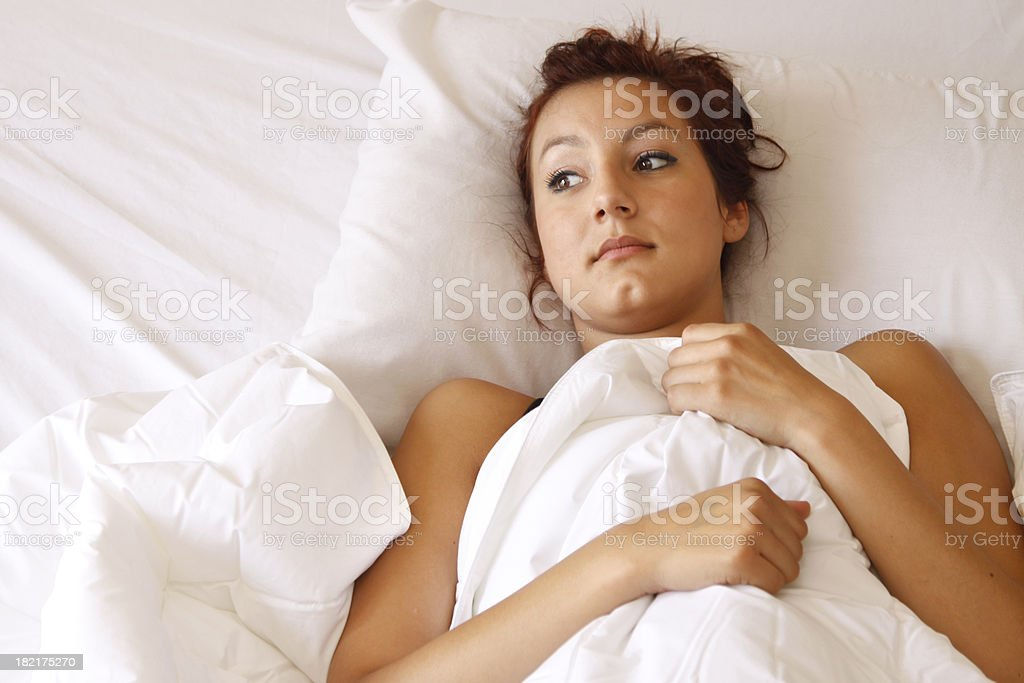 In Bed stock photo