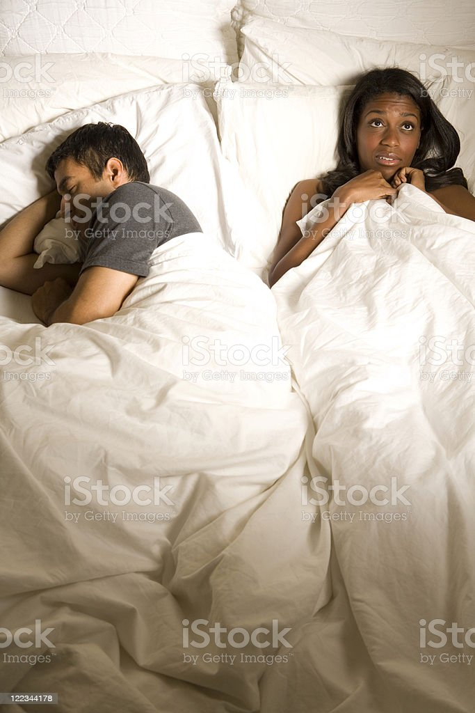 In Bed Together royalty-free stock photo