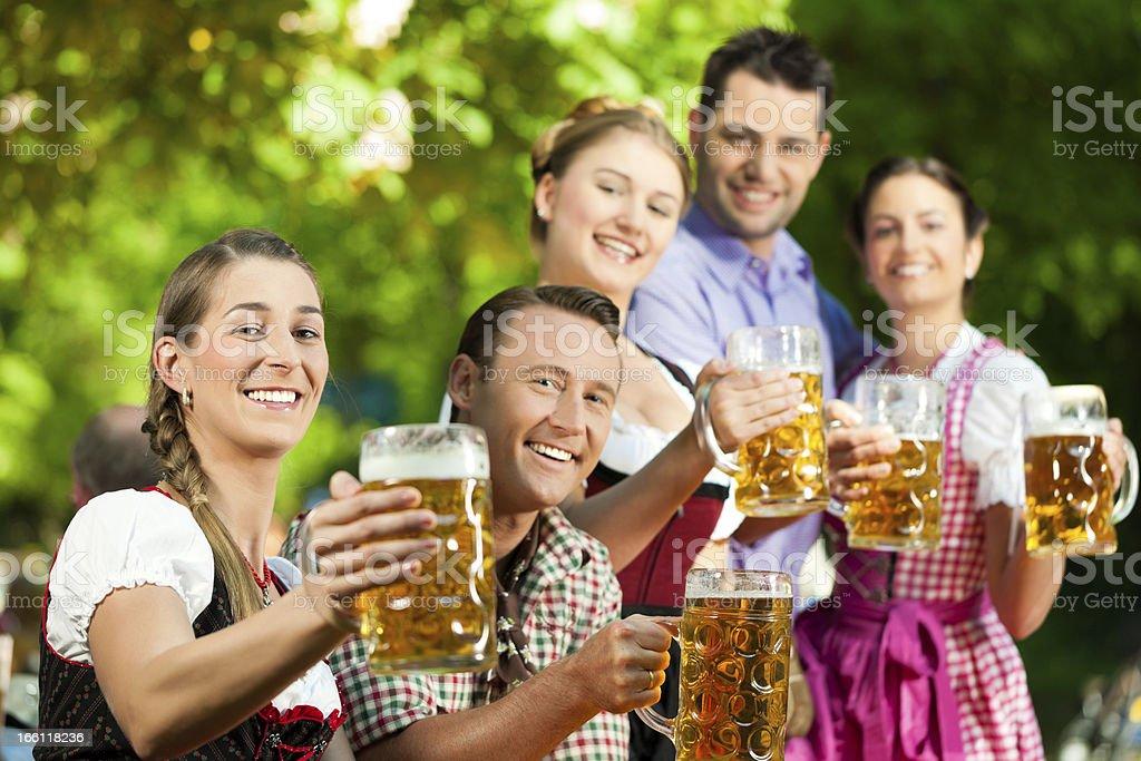 In Beer garden royalty-free stock photo