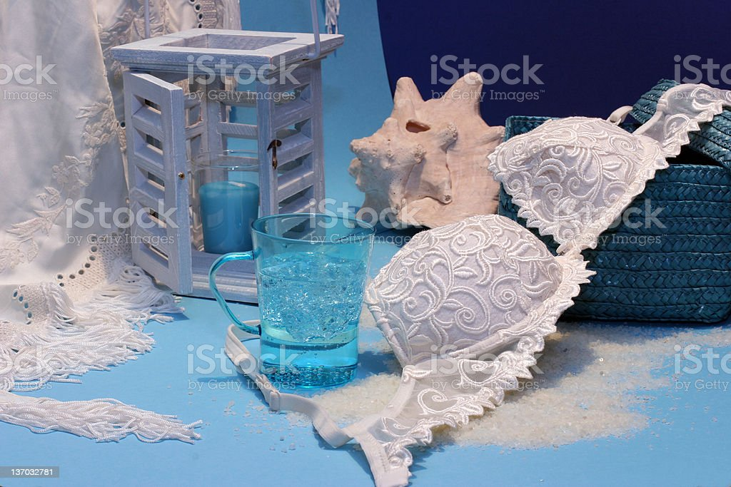 in blue stock photo
