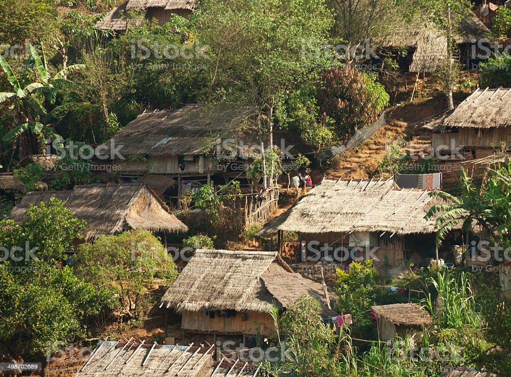 In  Burmese refugee camp stock photo