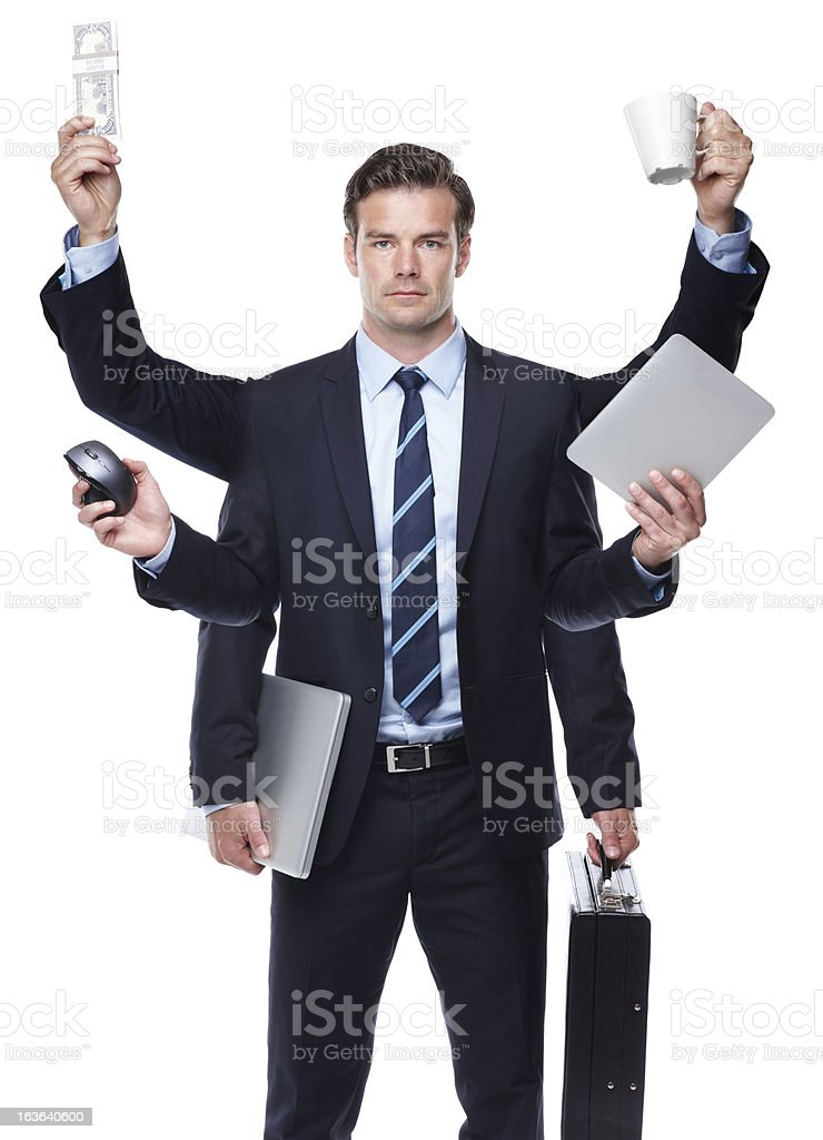 In business you need to be prepared for anything stock photo