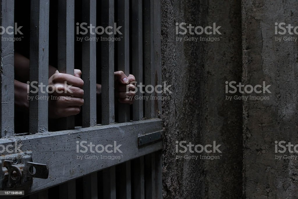 In cage stock photo