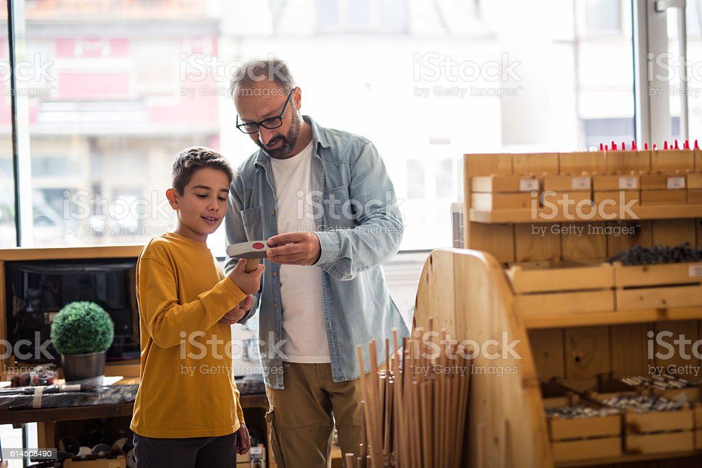 In carpentry shop stock photo