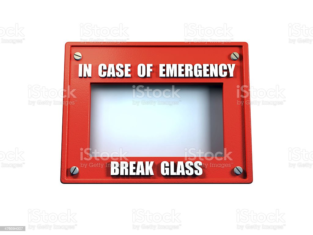 In Case of emergency stock photo