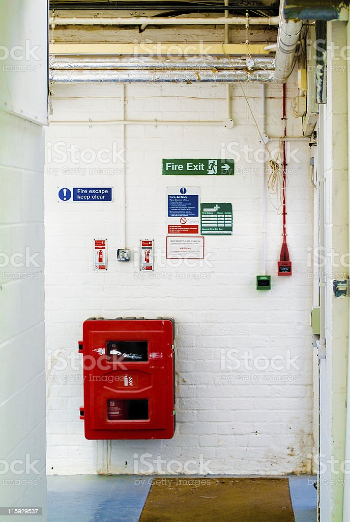 In case of fire... stock photo