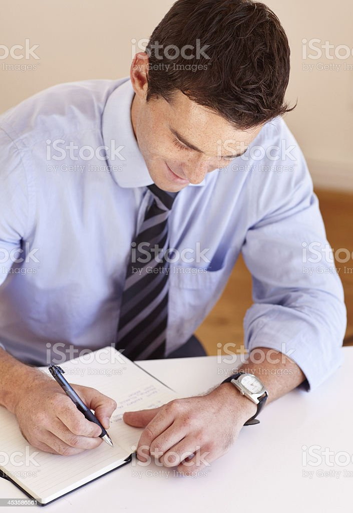In charge of his schedule stock photo