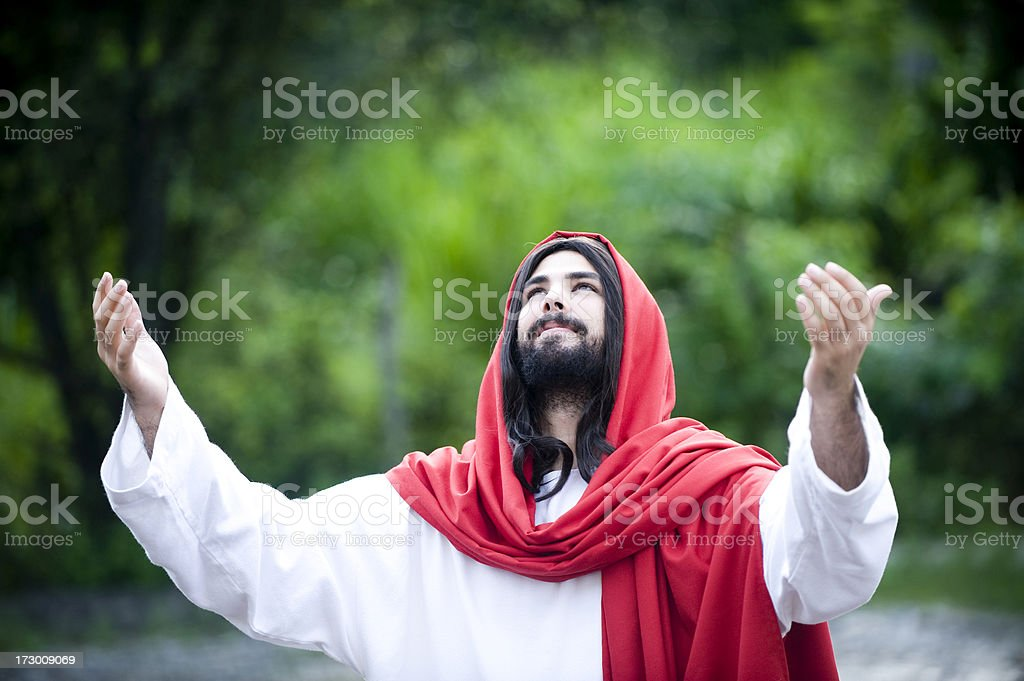 in communication with heaven royalty-free stock photo