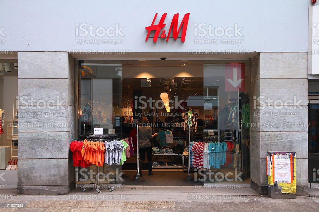 H&M in Copenhagen royalty-free stock photo