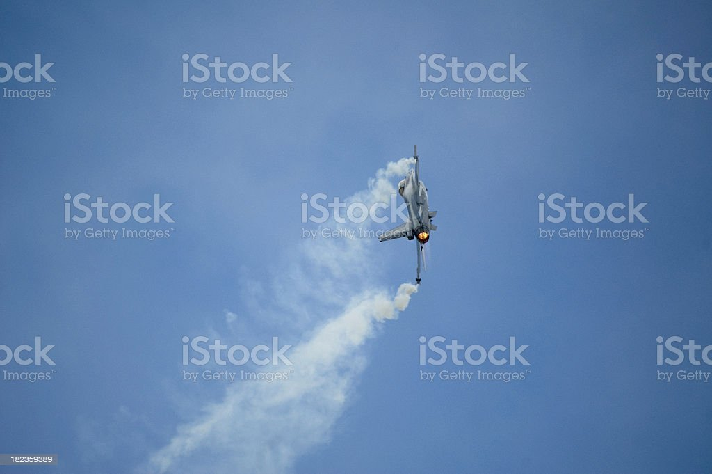 F16 in curve royalty-free stock photo