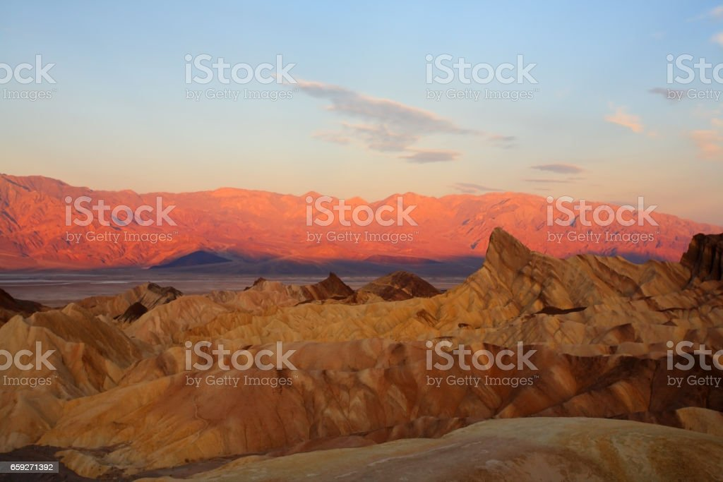 In Death valley in the USA. stock photo
