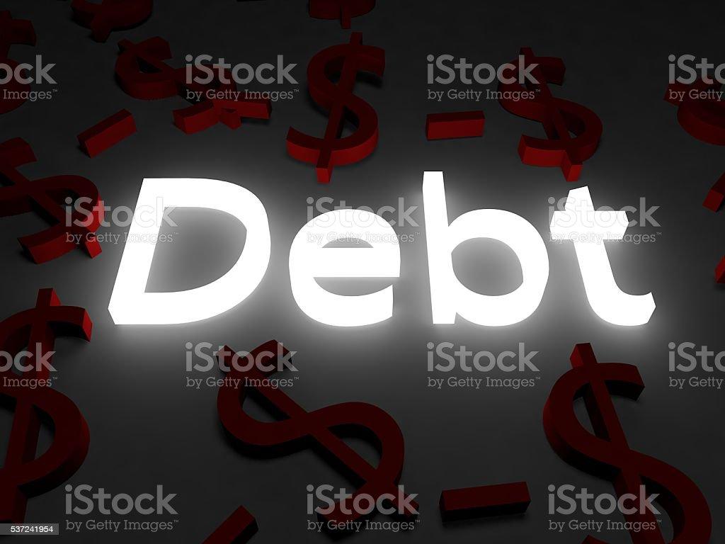 In Debt stock photo