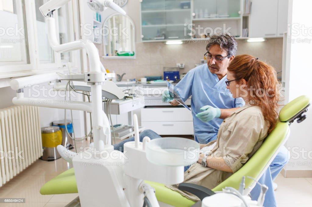 in dental office stock photo