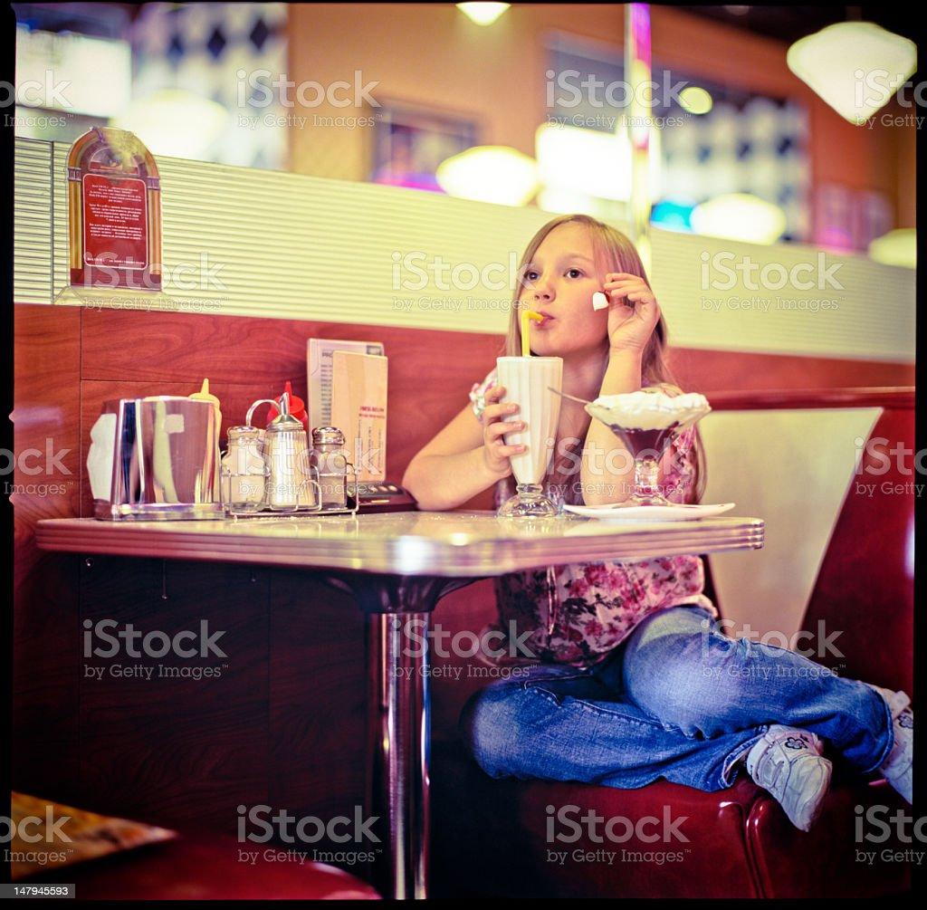 In Diner stock photo