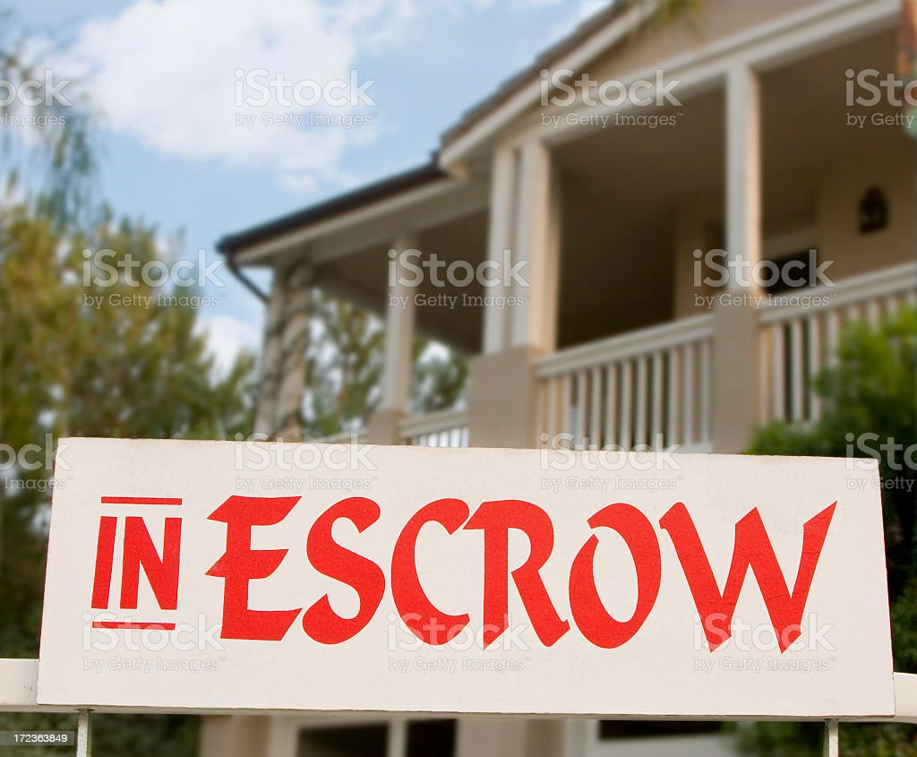 in escrow stock photo