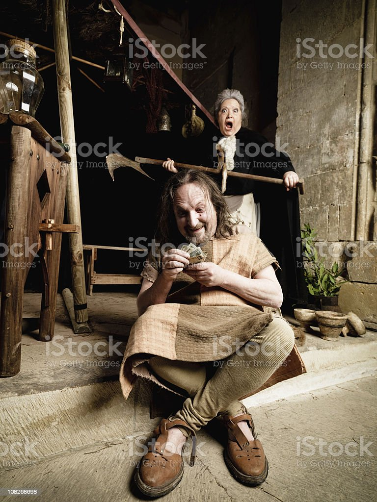 In Flagranti, Greedy Thief with Bad Luck royalty-free stock photo