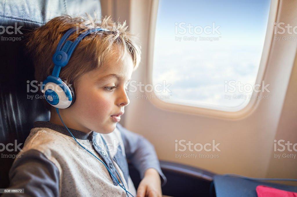 In flight entertainment stock photo