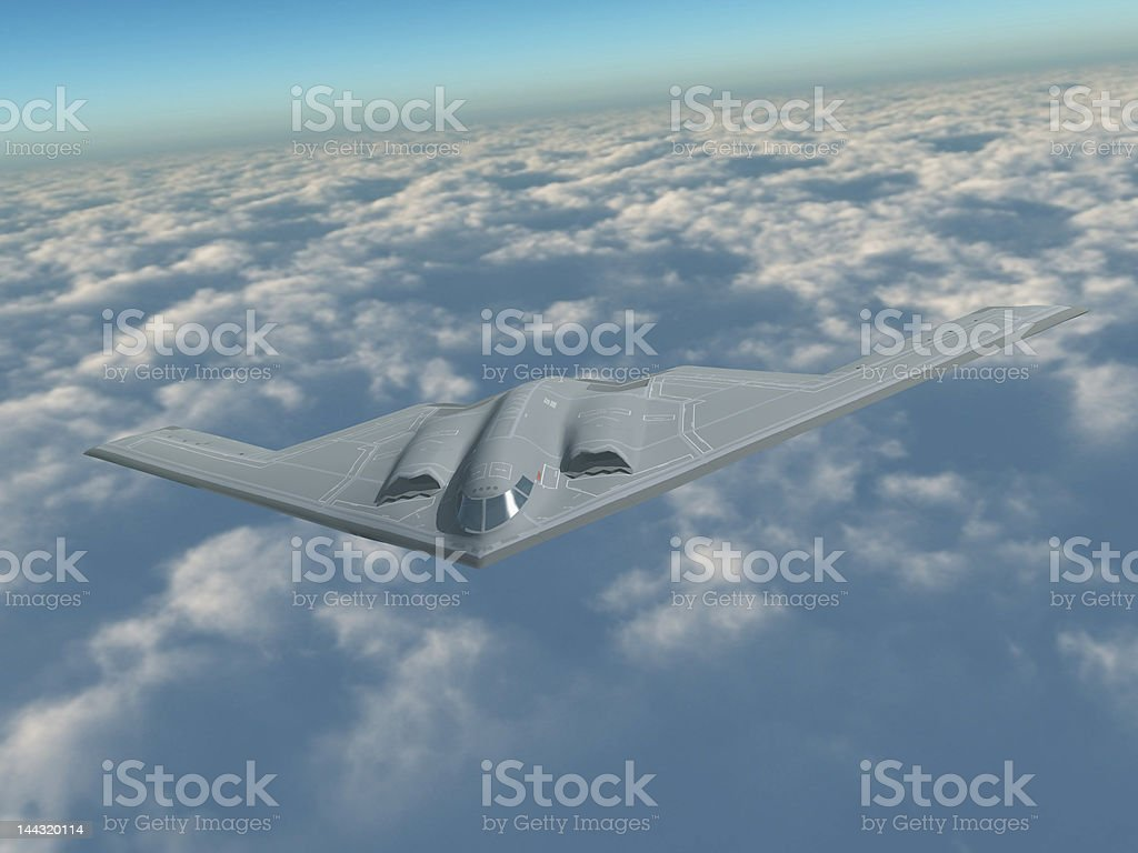 B-2 in flight stock photo