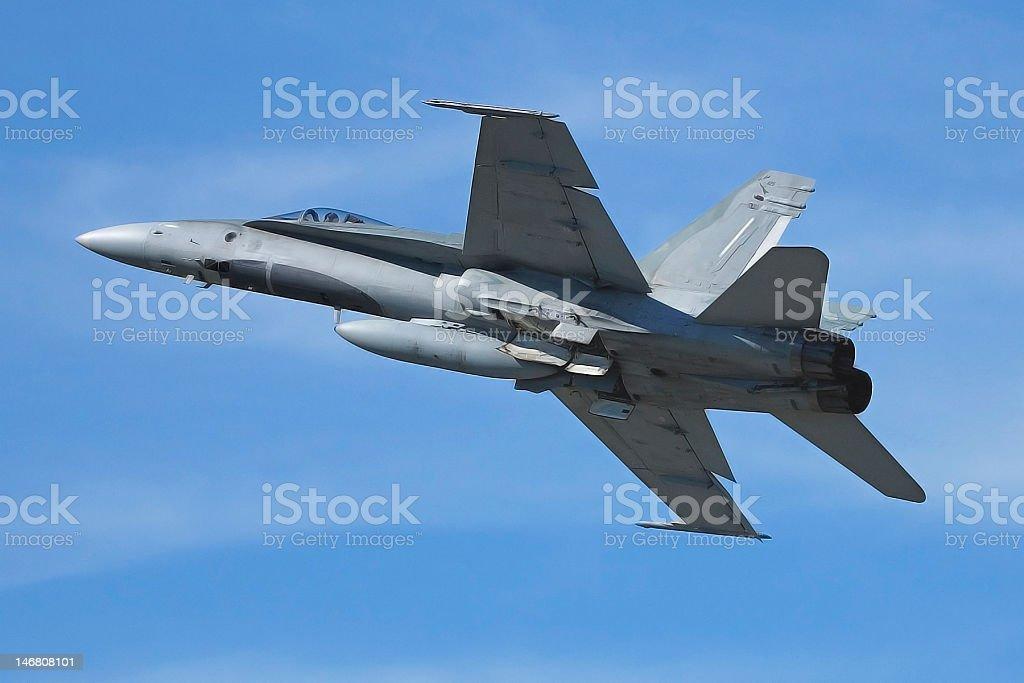 CF-18 in flight stock photo