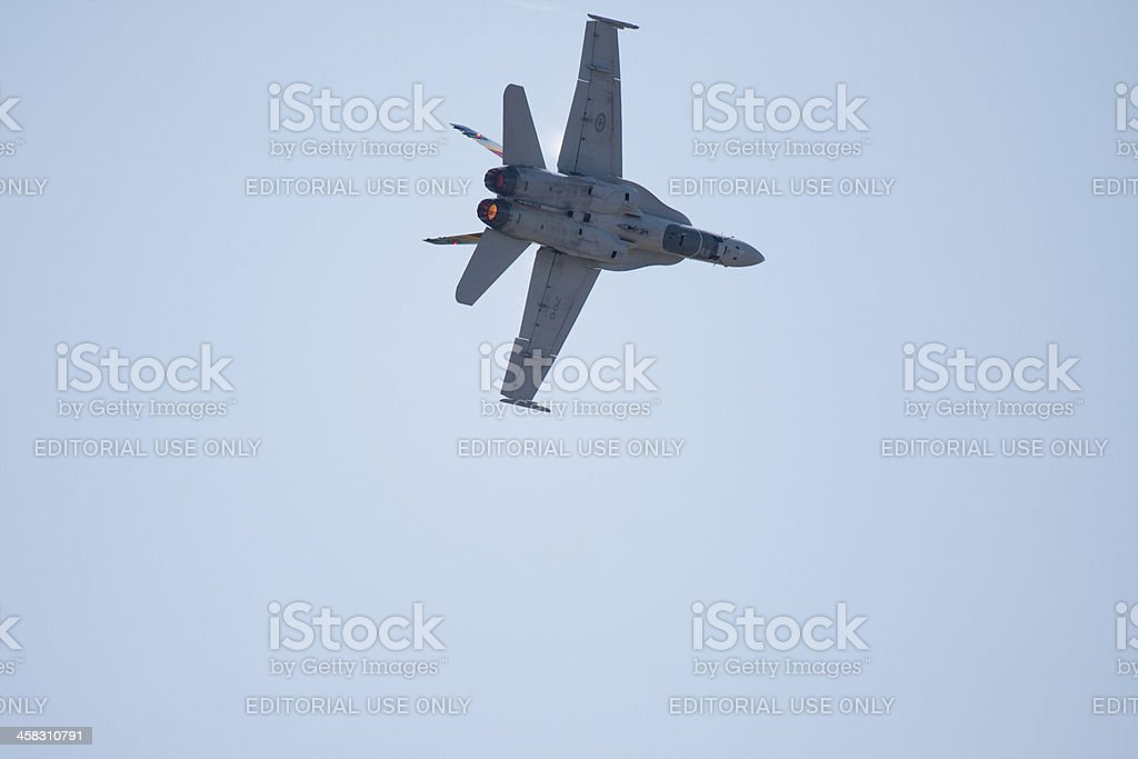 F/A-18 In Flight royalty-free stock photo