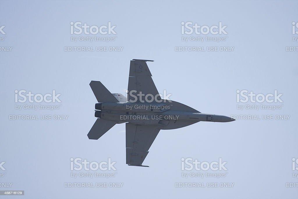 F-16 In Flight royalty-free stock photo