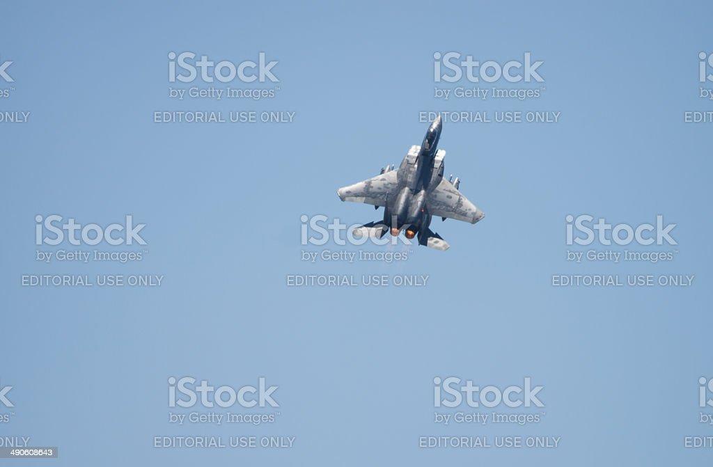 F-15 in Flight stock photo