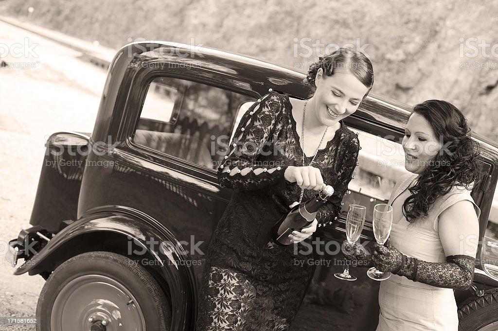 In front a Vintage Car - 1930 Style royalty-free stock photo