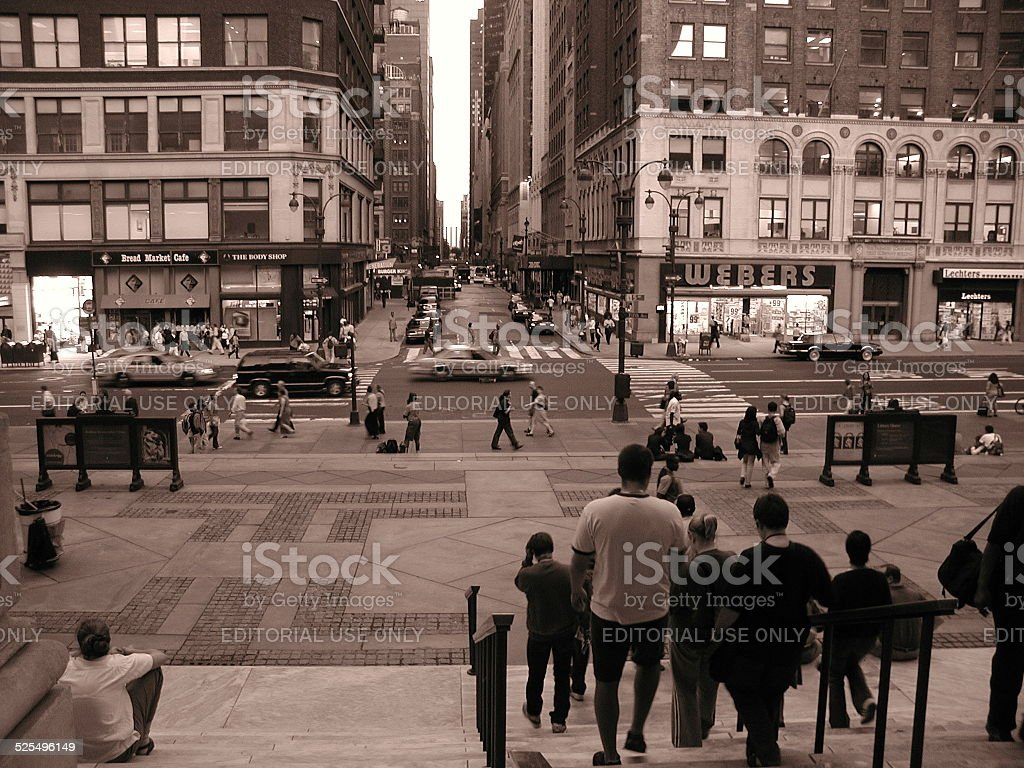 In Front of New York Public Library NYC stock photo