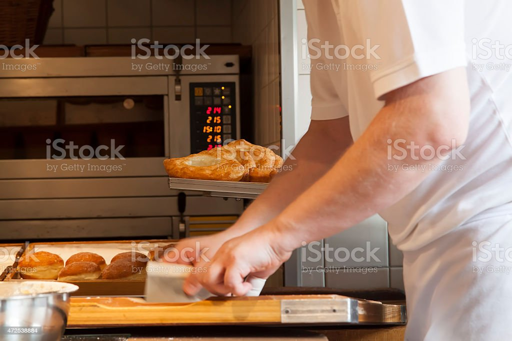 In front of the oven royalty-free stock photo