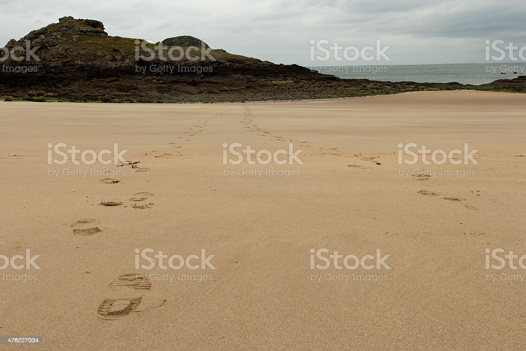 In front of the rock royalty-free stock photo