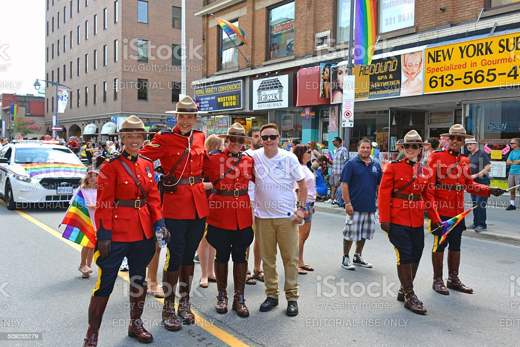 RCMP in Gay Pride Parade Ottawa royalty-free stock photo