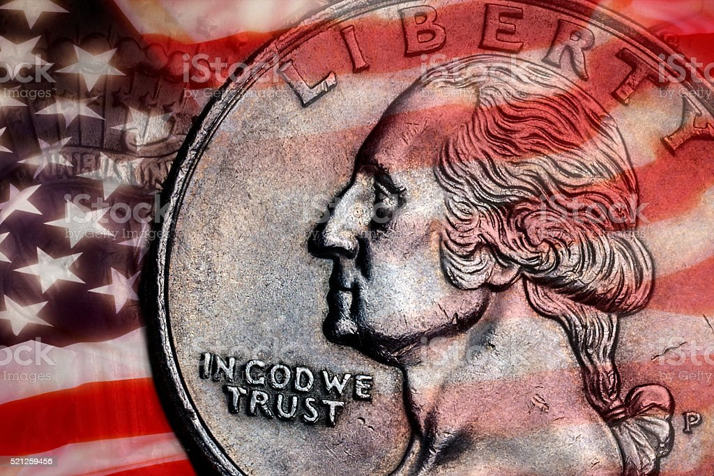 In God We Trust - Liberty - USA stock photo